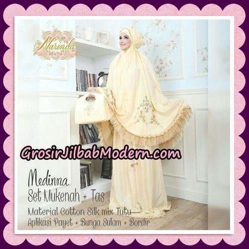 Medinna Set Mukena dan Tas Cantik Original By Narinda Hijab Brand - detail mukena