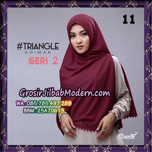 Jilbab Cantik Khimar Lipit Triangle Seri 2 Original By Oneto Hijab Brand No 11