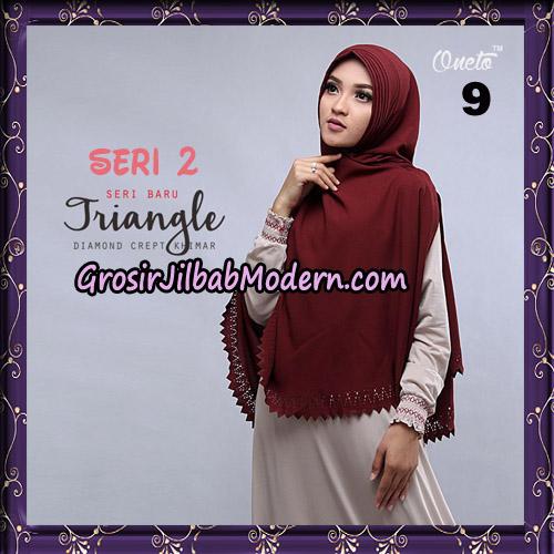 Jilbab Cantik Khimar Lipit Triangle Seri 2 Original By Oneto Hijab Brand No 9