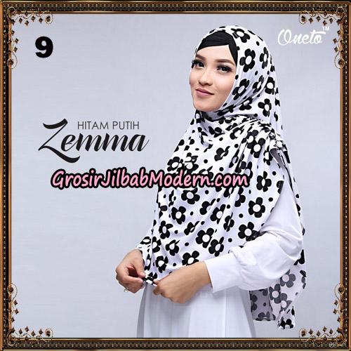 Jilbab Instant Cantik Zema Hitam Putih Support Oneto Hijab NO 9