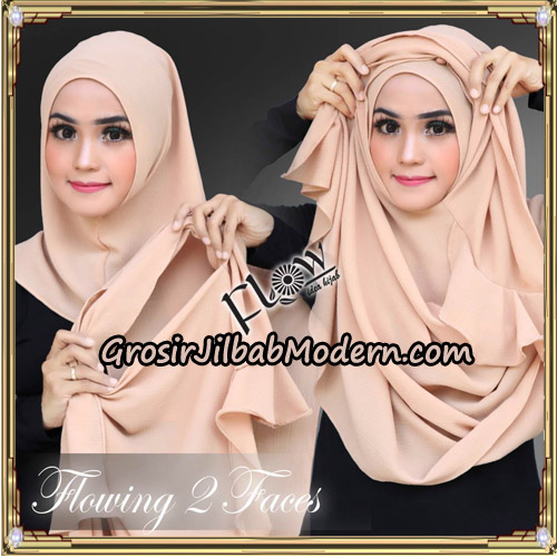Jilbab Instant Flowing 2 Faces Bunda Widya Henidar Amroe Original By Flow Idea - Cara Pemakaian
