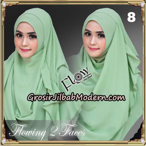 Jilbab Instant Flowing 2 Faces Bunda Widya Henidar Amroe Original By Flow Idea No 8