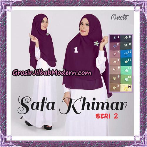 Jilbab Polos 2 Lapis Safa Khimar Seri 2 Support By Oneto Hijab