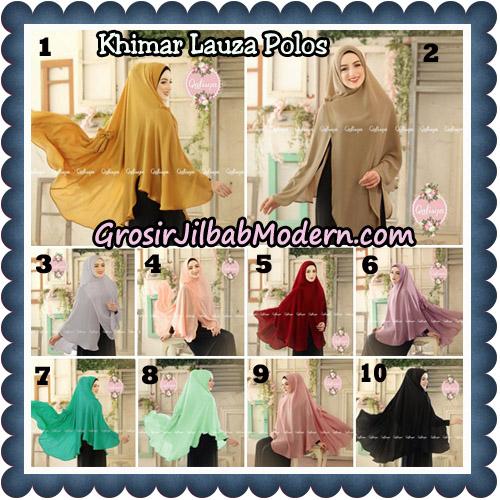 Jilbab Syari Khimar Lauza Polos Original by Qalisya Hijab Brand