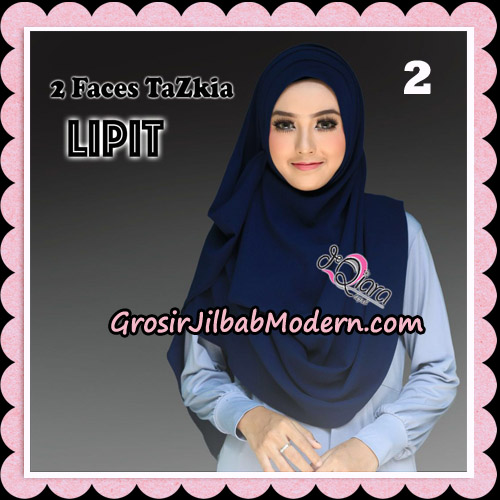 Jilbab Instan 2 Face Tazkia Lipit Original By dQiara Hijab Brand No 2