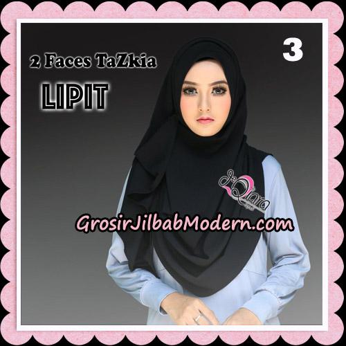 Jilbab Instan 2 Face Tazkia Lipit Original By dQiara Hijab Brand No 3