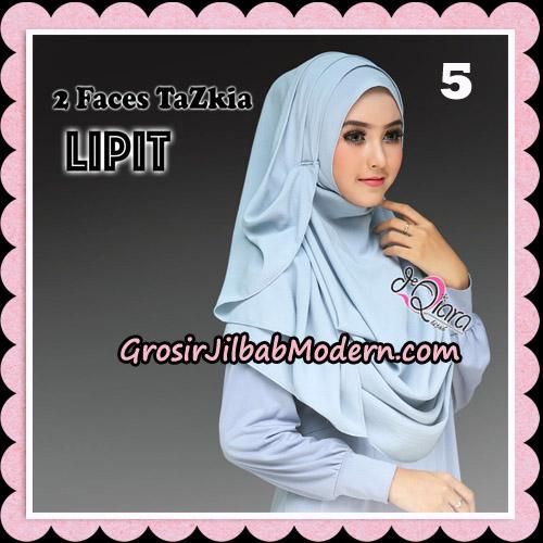 Jilbab Instan 2 Face Tazkia Lipit Original By dQiara Hijab Brand No 5
