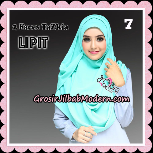 Jilbab Instan 2 Face Tazkia Lipit Original By dQiara Hijab Brand No 7