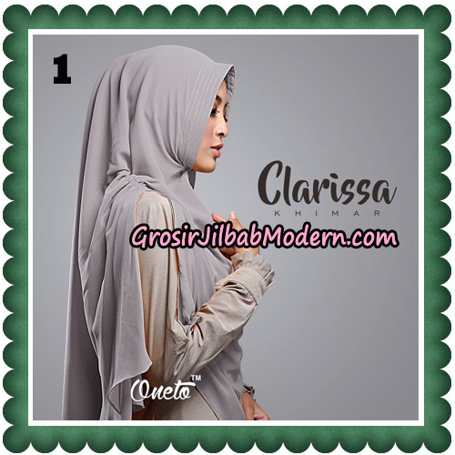 Jilbab Cantik Clarissa Khimar Original By Oneto Hijab No 1