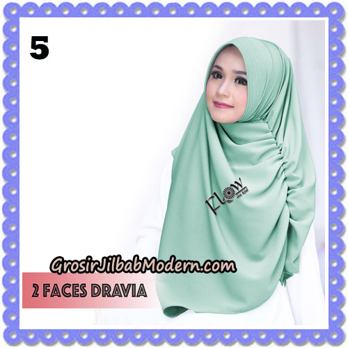 Jilbab Instant 2 Faces Dravia Poppy Bunga Original By Flow Idea Hijab No 5