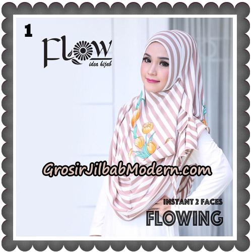 Jilbab Instant 2 Faces Flowing Stripe Original By Flow Idea No 1