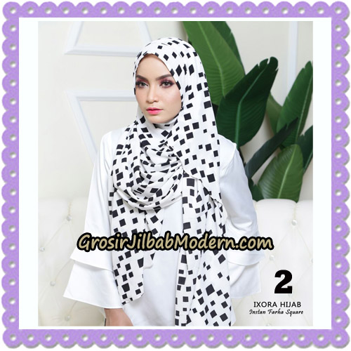 Jilbab Instant Cantik Farha Square Original by Ixora Hijab Brand No 2