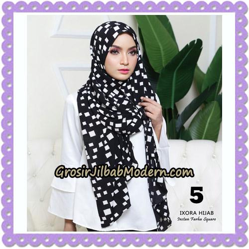 Jilbab Instant Cantik Farha Square Original by Ixora Hijab Brand No 5