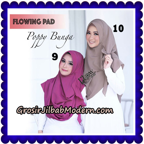 Jilbab Instant Flowing Pad Ala Poppy Bunga Original By Flow Idea No 9,10