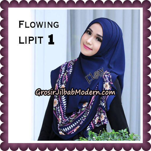 Jilbab Cantik Instant Flowing Lipit Original By Flow Idea Hijab No 1