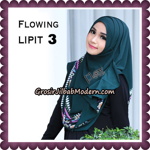 Jilbab Cantik Instant Flowing Lipit Original By Flow Idea Hijab No 3