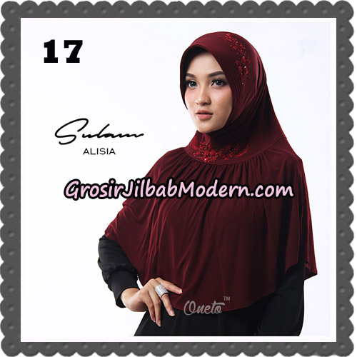 Jilbab Cantik Sulam Alisia Original By Oneto Hijab Brand no 17