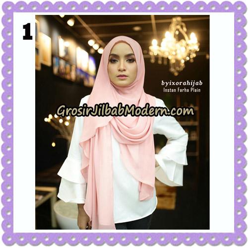 Jilbab Instant Cantik Farha Plain Original by Ixora Hijab Brand No 1
