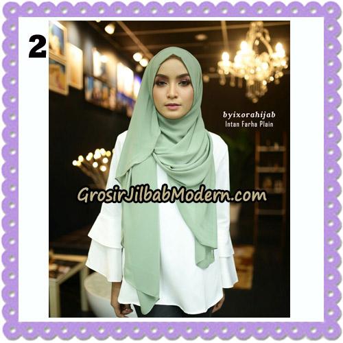 Jilbab Instant Cantik Farha Plain Original by Ixora Hijab Brand No 2