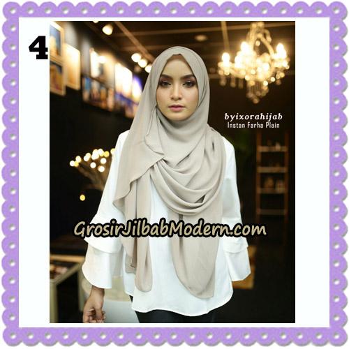 Jilbab Instant Cantik Farha Plain Original by Ixora Hijab Brand No 4