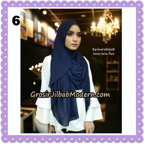 Jilbab Instant Cantik Farha Plain Original by Ixora Hijab Brand No 6