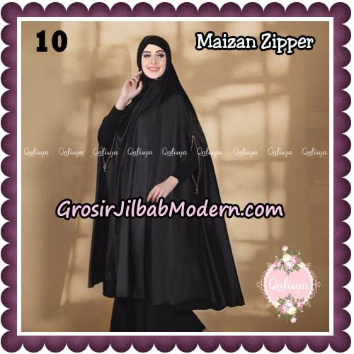 Jilbab Syari Khimar Maizan Zipper Original by Qalisya Hijab Brand No 10