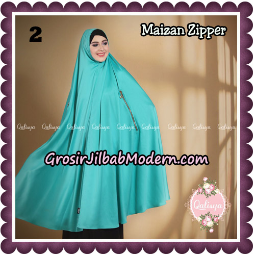 Jilbab Syari Khimar Maizan Zipper Original by Qalisya Hijab Brand No 2