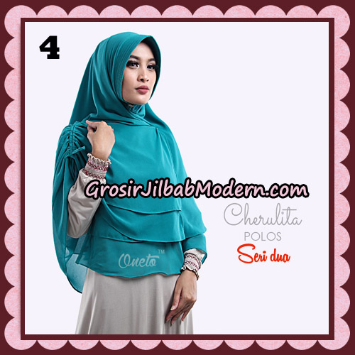 Khimar Instant Cherulita Polos Seri 2 Original By Oneto Hijab Brand No 4