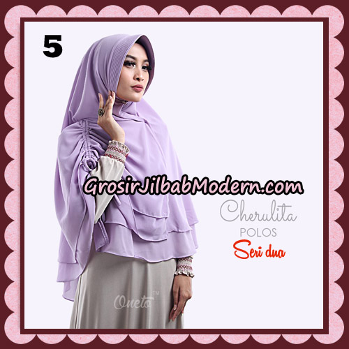 Khimar Instant Cherulita Polos Seri 2 Original By Oneto Hijab Brand No 5