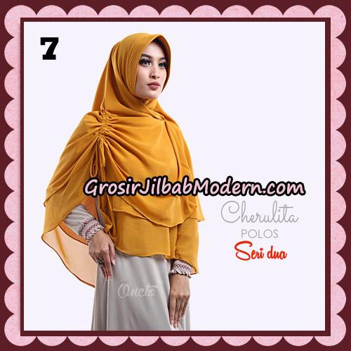 Khimar Instant Cherulita Polos Seri 2 Original By Oneto Hijab Brand No 7