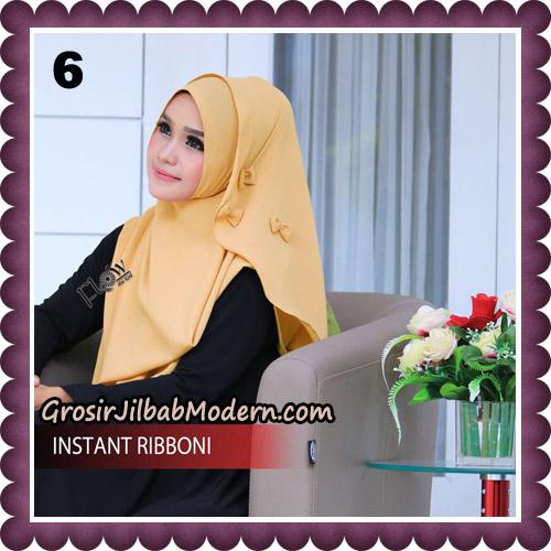Jilbab Cantik Instant Ribboni Original By Flow Idea Hijab No 6