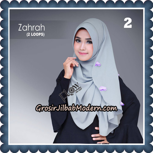 Jilbab Instant Zahrah 2 Loops Original By Flow Idea Hijab No 2