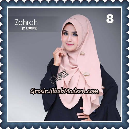Jilbab Instant Zahrah 2 Loops Original By Flow Idea Hijab No 8