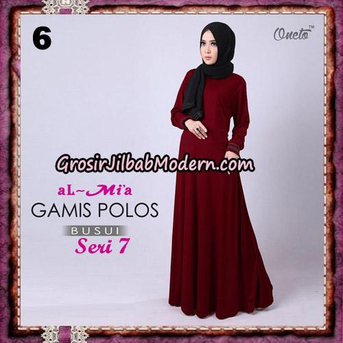Gamis Polos Busui Seri 7 Original By AlMia Brand No 6