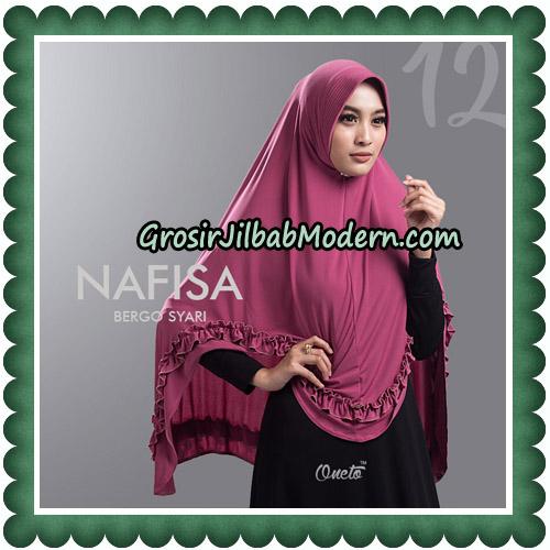 Jilbab Cantik Nafisa Bergo Syari Original By Oneto Hijab No 12