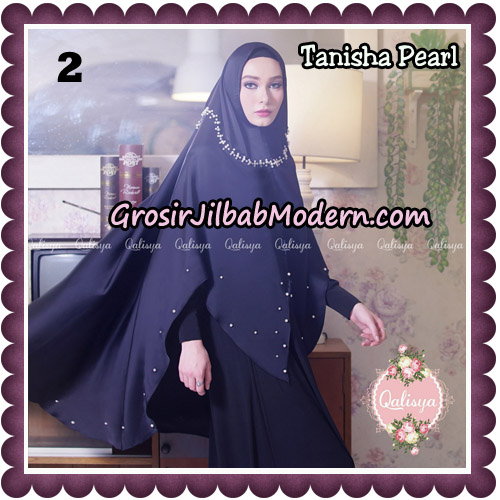 Jilbab Syari Khimar Tanisha Pearl Original by Qalisya Hijab Brand No 2