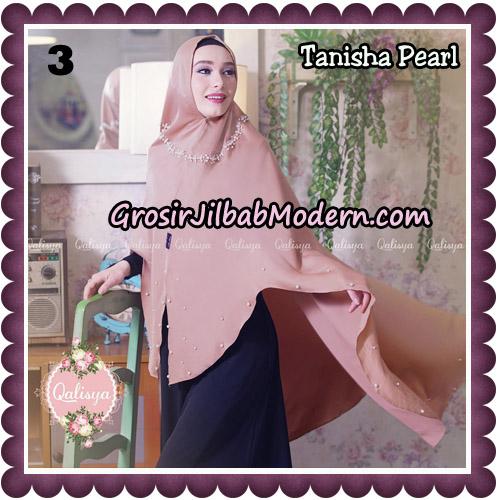 Jilbab Syari Khimar Tanisha Pearl Original by Qalisya Hijab Brand No 3