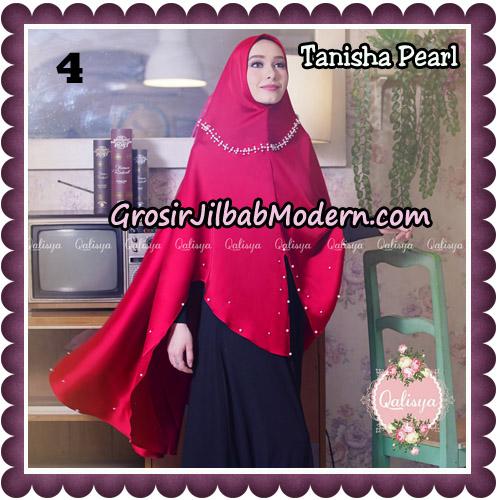 Jilbab Syari Khimar Tanisha Pearl Original by Qalisya Hijab Brand No 4