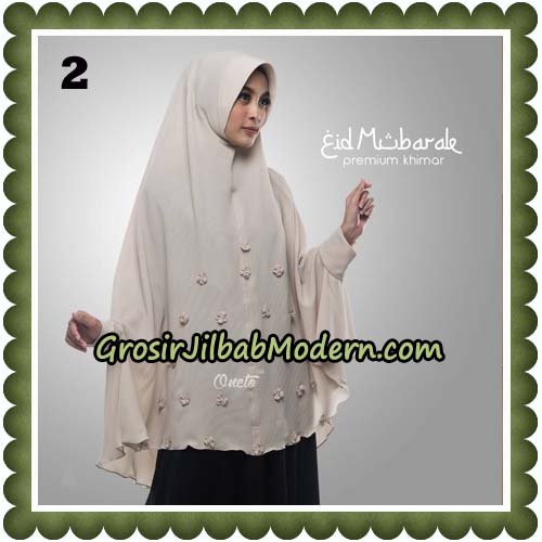 Jilbab Cantik Eid Mubarok Premium Khimar Original By Oneto Hijab Brand No 2
