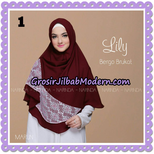 Jilbab Instant Lily Bergo Brukat Original By Narinda Hijab Brand No 1