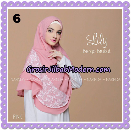 Jilbab Instant Lily Bergo Brukat Original By Narinda Hijab Brand No 6
