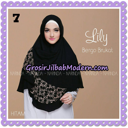 Jilbab Instant Lily Bergo Brukat Original By Narinda Hijab Brand No 7