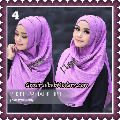 Jilbab Instant Plisket Metalik Lipit Original By Flow Idea Hijab No 4