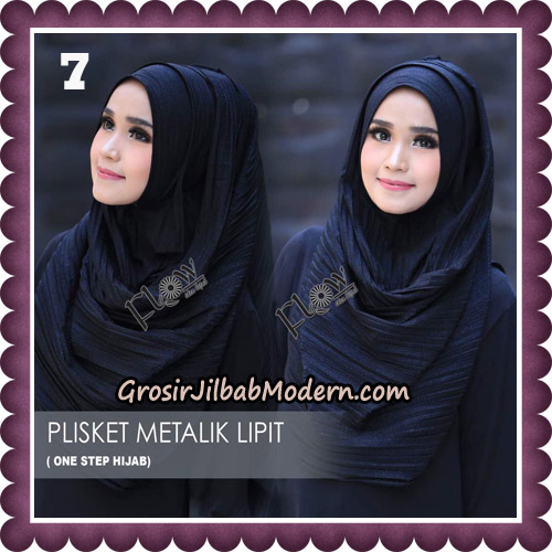 Jilbab Instant Plisket Metalik Lipit Original By Flow Idea Hijab No 7