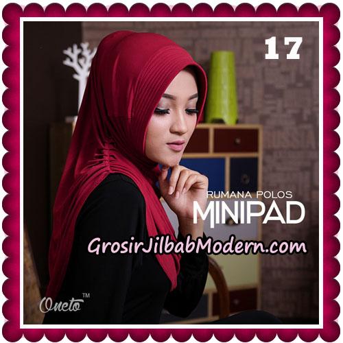 Jilbab Cantik Rumana Polos Minipad Seri 2 Original By Oneto Hijab Brand No 17
