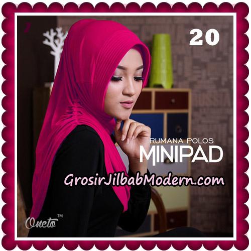 Jilbab Cantik Rumana Polos Minipad Seri 2 Original By Oneto Hijab Brand No 20
