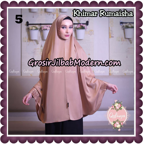 Jilbab Syari Khimar Rumaisha Original by Qalisya Hijab Brand NO 5