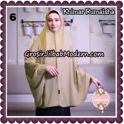 Jilbab Syari Khimar Rumaisha Original by Qalisya Hijab Brand No 6