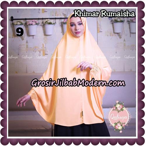 Jilbab Syari Khimar Rumaisha Original by Qalisya Hijab Brand No 9