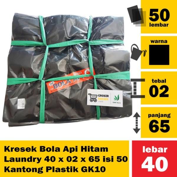Kresek Bola Api Hitam Laundry 40 x 02 x 65 isi 50 Kantong Plastik GK10